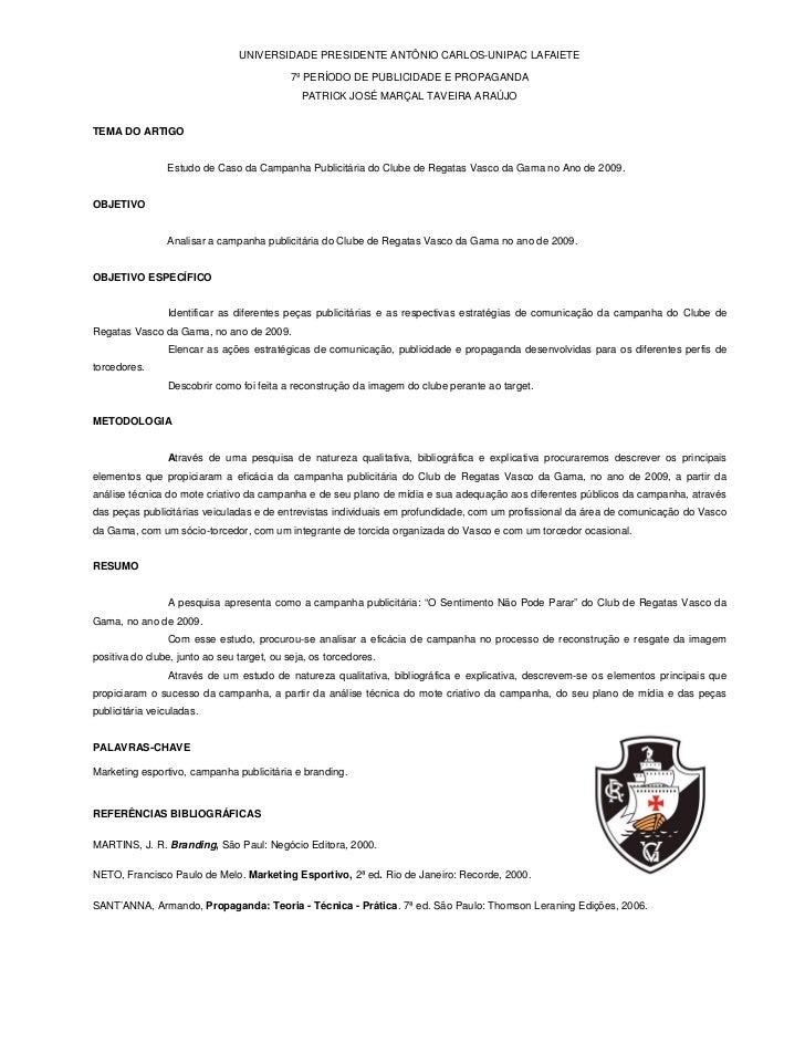 UNIVERSIDADE PRESIDENTE ANTÔNIO CARLOS-UNIPAC LAFAIETE                                            7º PERÍODO DE PUBLICIDAD...