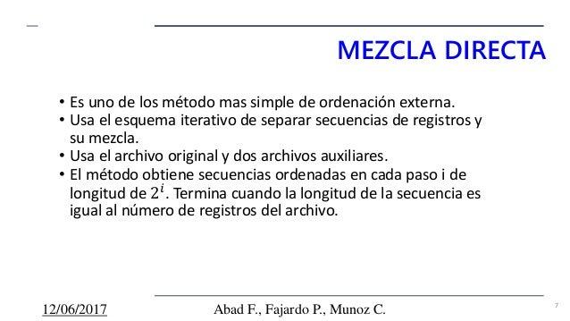 93b8a2e142 Algoritmos de Ordenamiento externo