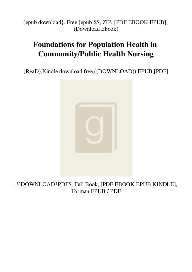 {epub download}, Free [epub]$$, ZIP, [PDF EBOOK EPUB], (Download Ebook) Foundations for Population Health in Community/Pub...