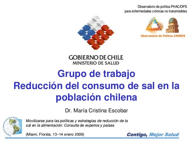 Observatorio de política PHAC/OPS                                                               para enfermedades crónicas...