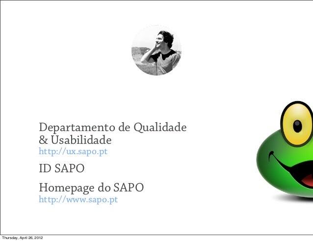 Responsive Web Design: Uma História das Trincheiras (sapo.pt) Slide 3