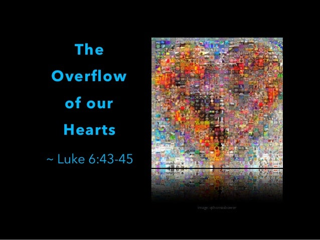 The Overflow of our Hearts ~ Luke 6:43-45  image: qthomasbower