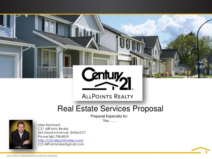 Real Estate Services Proposal                                Prepared Especially for:                                     ...