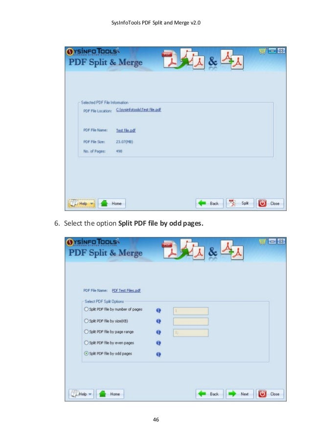 software to split and merge pdf files