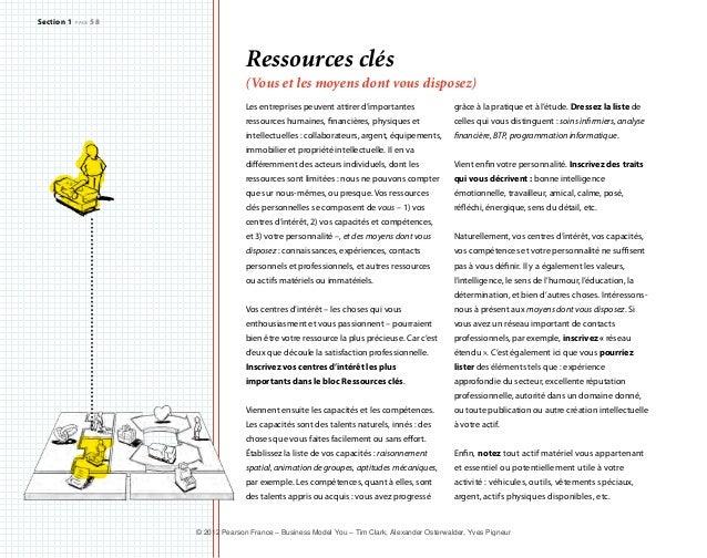 Ressources clés  (Vous et les moyens dont vous disposez)  Les entreprises peuvent attirer d'importantes  ressources humain...