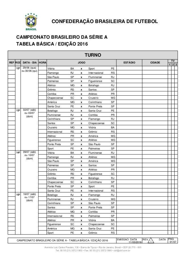 Tabela Do Brasileirao A Partir Da 12ª Rodada