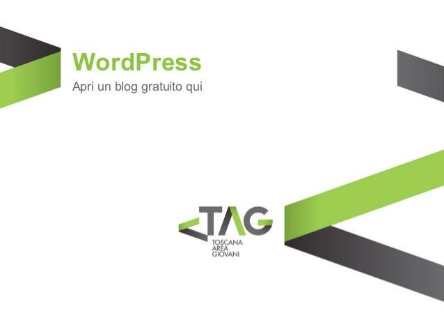 WordPressApri un blog gratuito qui