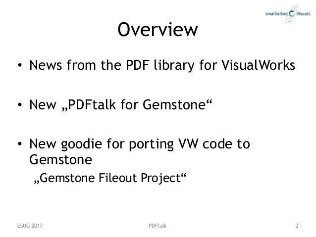 PDFtalk for Gemstone Slide 2