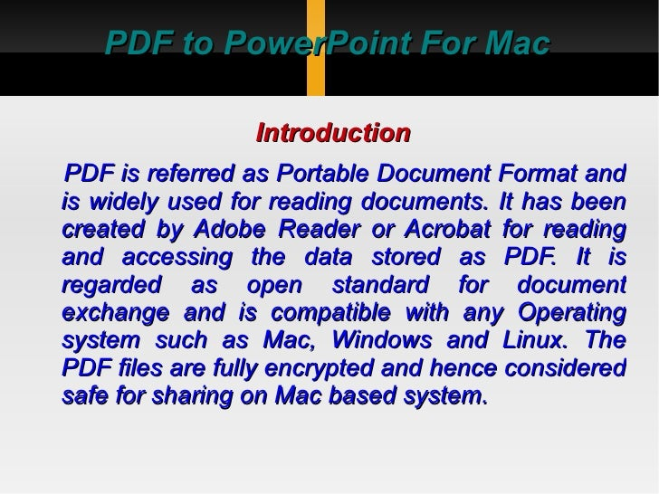 Pdf to powerpoint for mac