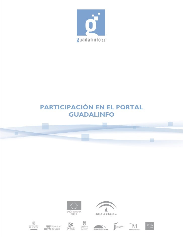PARTICIPACIÓN EN EL PORTAL        GUADALINFO