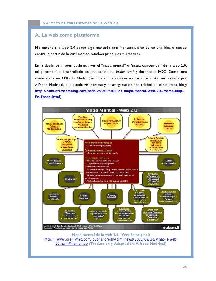 VALORES Y HERRAMIENTAS DE LA WEB 2.0  La idea de la web 2.0 entendida como plataforma, la sugirió a partir de la filosofía...