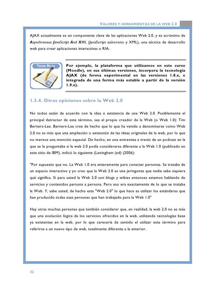 VALORES Y HERRAMIENTAS DE LA WEB 2.0                         Participa en el foro de debate de esta unidad didática, para ...
