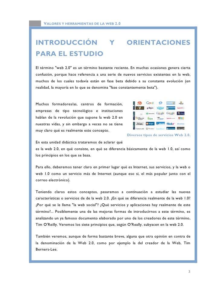 VALORES Y HERRAMIENTAS DE LA WEB 2.0  Por último, realizaremos una rápida introducción en el último apartado de la unidad ...