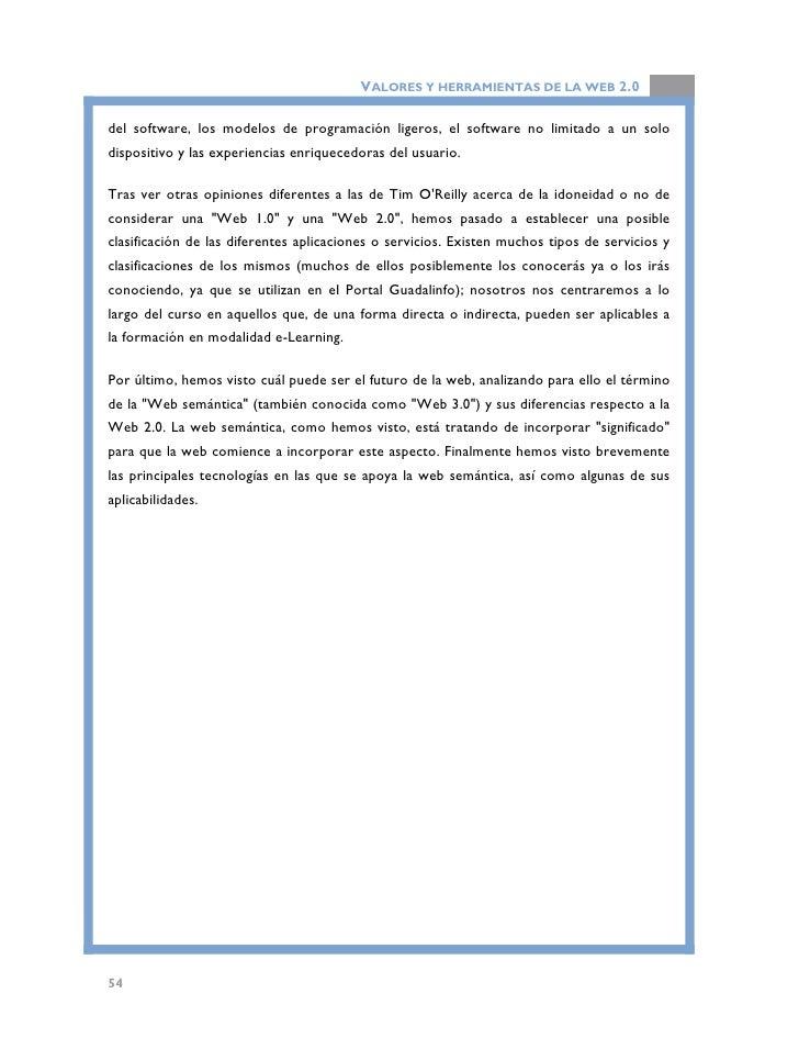 """VALORES Y HERRAMIENTAS DE LA WEB 2.0   BIBLIOGRAFÍA  •   Anderson, P. (2007). """"What is Web 2.0? Ideas, technologies and im..."""