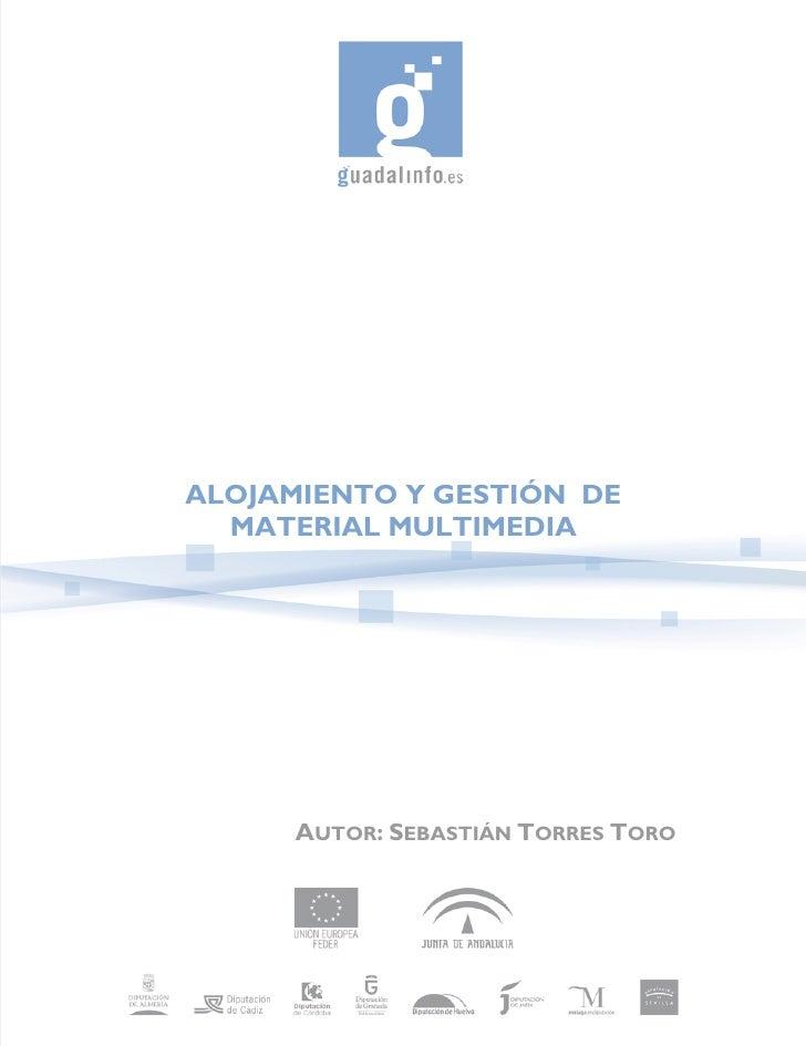 ALOJAMIENTO Y GESTIÓN DE   MATERIAL MULTIMEDIA           AUTOR: SEBASTIÁN TORRES TORO