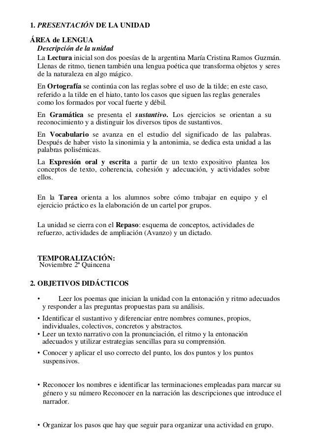 1. PRESENTACIÓN DE LA UNIDAD ÁREA de LENGUA Descripción de la unidad La Lectura inicial son dos poesías de la argentina Ma...