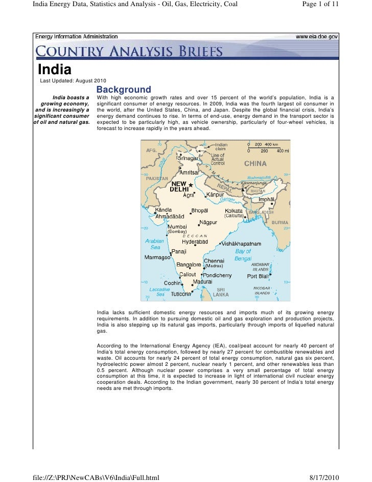 India Energy Data, Statistics and Analysis - Oil, Gas, Electricity, Coal