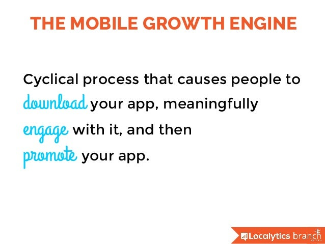 THE MOBILE GROWTH ENGINE Cyclical process that causes people to download your app, meaningfully engage with it, and then  ...