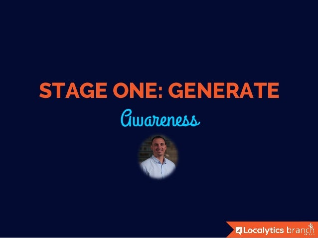 STAGE ONE: GENERATE Awareness