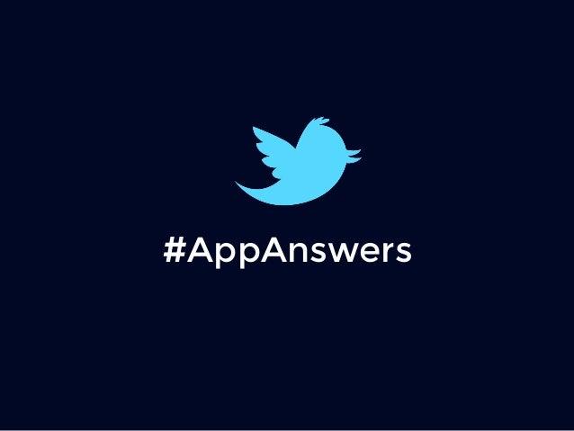 #AppAnswers