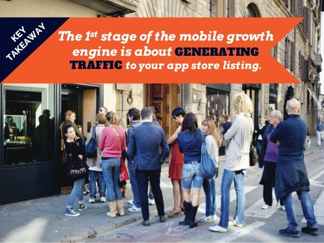The 1st stage of the mobile growth engine is about GENERATING TRAFFIC to your app store listing.