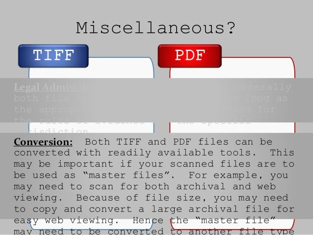 tiff vs pdf for printing
