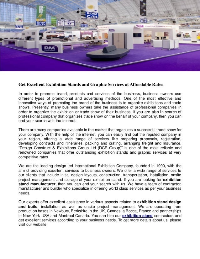 Exhibition Stand Rates : Exhibition stand manufacturer