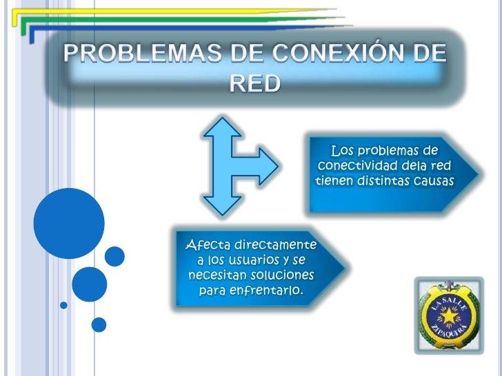 PROBLEMAS DE CONEXIÓN DE RED <br />Los problemas de conectividad dela red tienen distintas causas  <br />Afecta directamen...