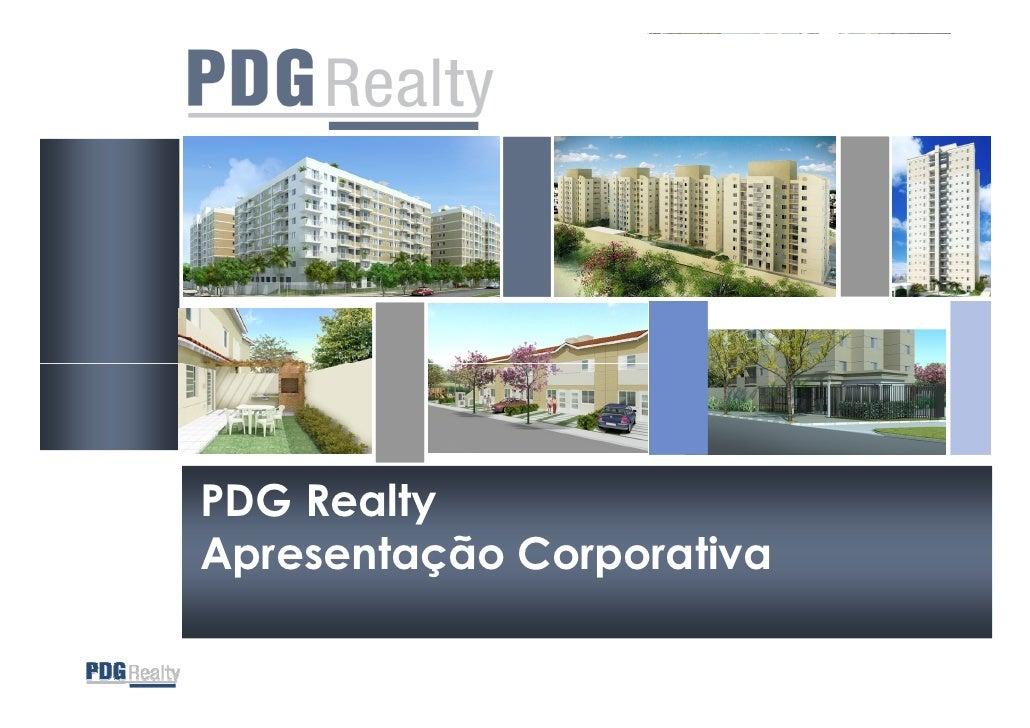 PDG Realty Apresentação Corporativa