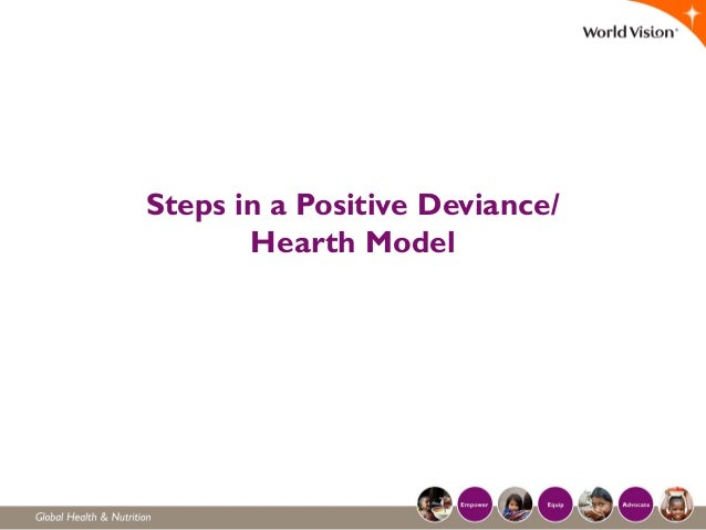 Steps in a Positive Deviance/ Hearth Model