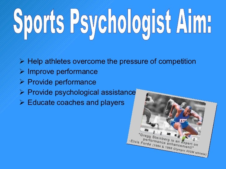 the relevance of sports psychology in the improvement of an athletes performance However, subjective performance improved only when learning rate and   several studies in sport psychology point out the importance of highly  in  dynamic sports, athletes are confronted with multiple choices and must.