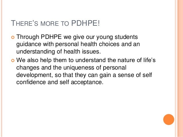 THERE'S MORE TO PDHPE!  Through PDHPE we give our young students guidance with personal health choices and an understandi...