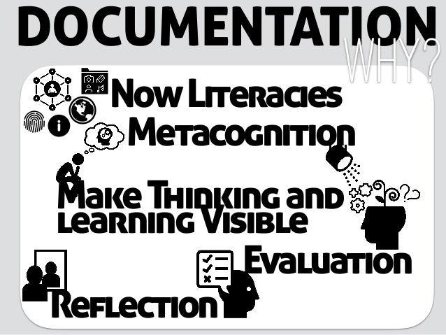 DOCUMENTATION Metacognition Why? MakeThinkingand learningVisible Reflection Evaluation NowLiteracies