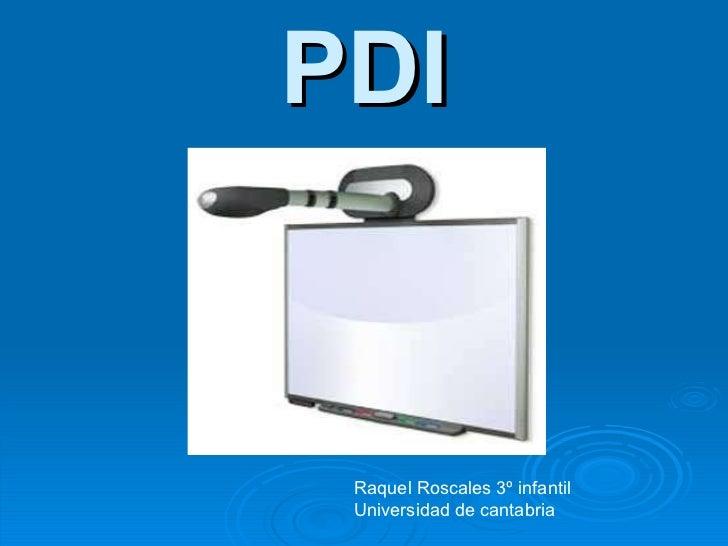 PDI Raquel Roscales 3º infantil Universidad de cantabria