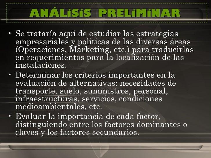 ANÁLiSiS  PRELiMiNAR  <ul><li>Se trataría aquí de estudiar las estrategias empresariales y políticas de las diversas áreas...