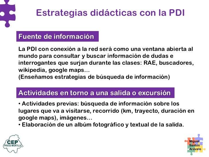 Estrategias didácticas con la PDI La PDI como soporte para el registro • Registro de datos sobre el tiempo en calendarios ...
