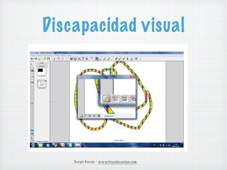 Discapacidad visual    Sergio García - www.ticyeducacion.com