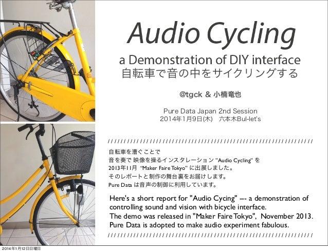 @tgck & 小楠竜也 Pure Data Japan 2nd Session 2014年1月9日(木)六本木Bul-let s  //////////////////////////////////////////////////////...