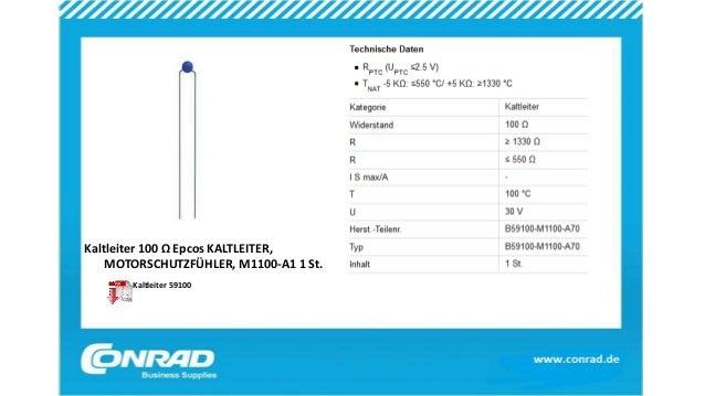 Kaltleiter 100 Ω Epcos KALTLEITER, MOTORSCHUTZFÜHLER, M1100-A1 1 St. Kaltleiter 59100