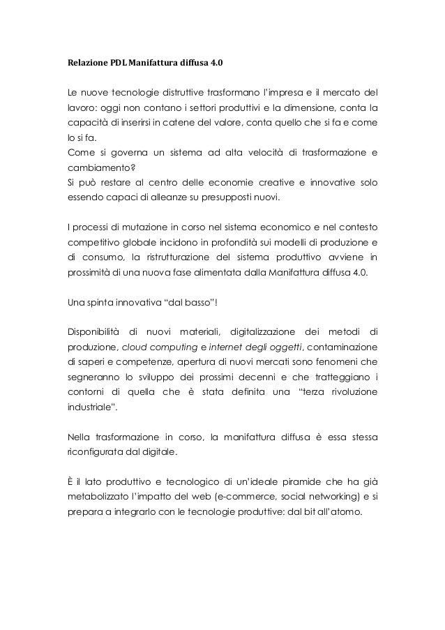 Progetto di legge manifattura diffusa 4 0 for Aggiunte di legge