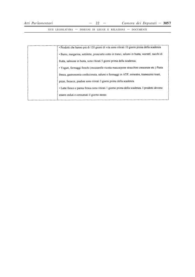Proposta di legge sugli sprechi alimentari for Atti parlamentari camera