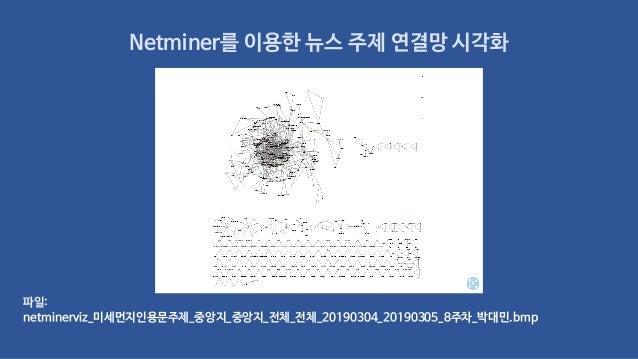 Netminer를 이용한 뉴스 주제 연결망 시각화 파일: netminerviz_미세먼지인용문주제_중앙지_중앙지_전체_전체_20190304_20190305_8주차_박대민.bmp