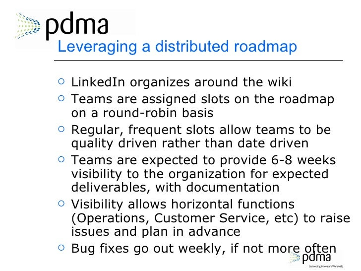 leveraging a distributed roadmap linkedin