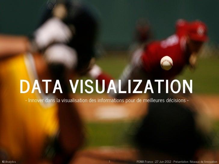 DATA VISUALIZATION               - Innover dans la visualisation des informations pour de meilleures décisions -KI Analyti...