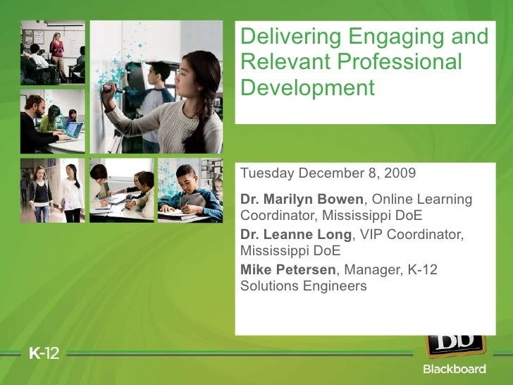 Delivering Engaging and Relevant Professional Development: Featuring the Mississippi Department of Education