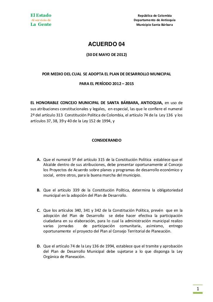 El Estado                                                     República de ColombiaAl servicio de                         ...