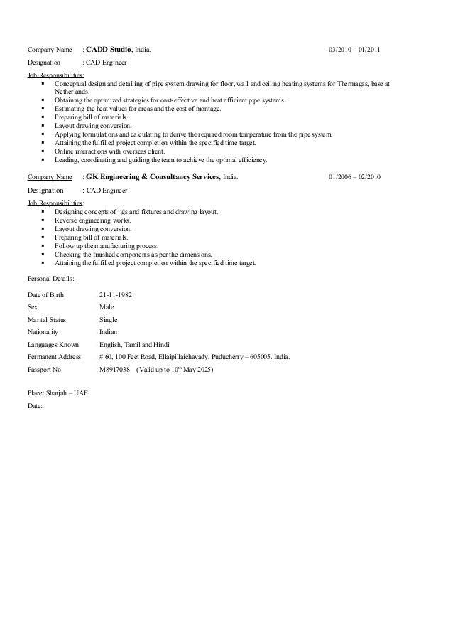 Pdms autocad designer resumetgunalan