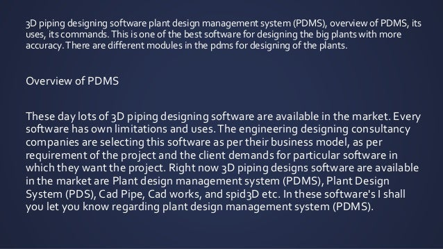 Pdms Overview
