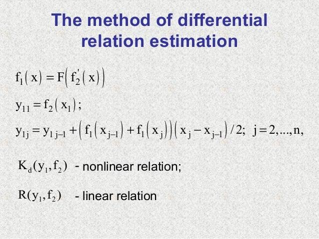 The method of differentialrelation estimation( ) ( )( )1 2f x F f x=( )( ) ( )( )( )11 2 11j 1 j 1 1 j 1 1 j j j 1y f x ;y...