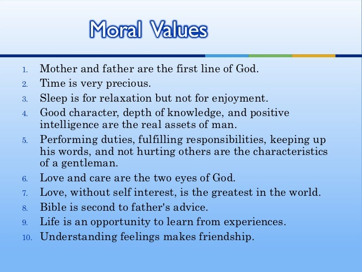 frankfinn personality development assignment moral value